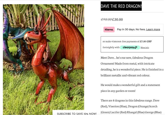 Dave the Red Dragon!