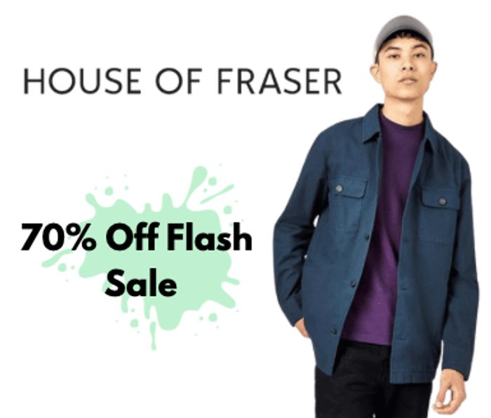 Up to 70% Off House of Fraser Flash Sale Inc £5.99 Top & £10.99 T-Shirt