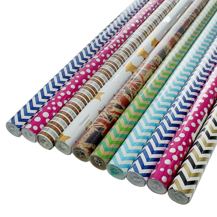Best Price! 10 Assorted 2 Metre Roll Gift Wrapping Paper
