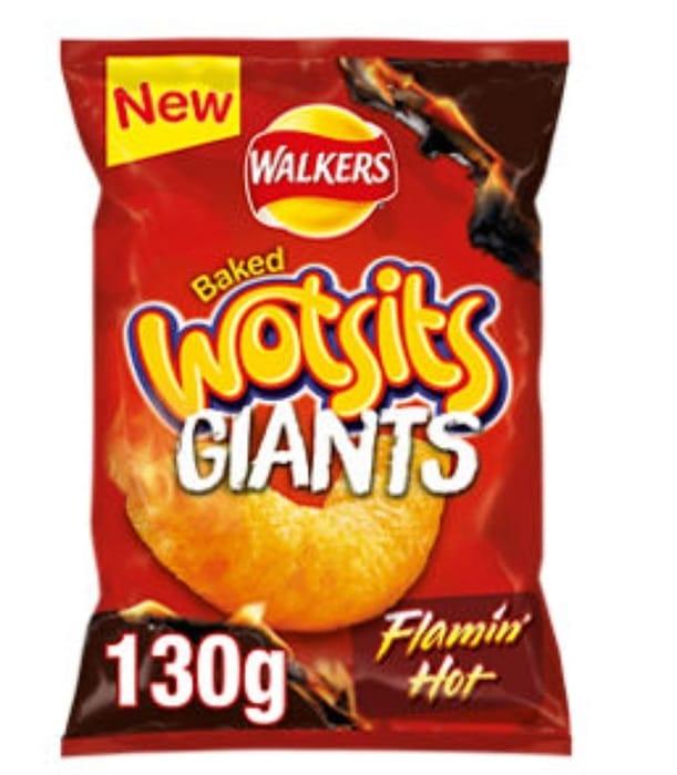 Walkers Wotsits Giants Flamin' Hot Sharing Crisps  130g