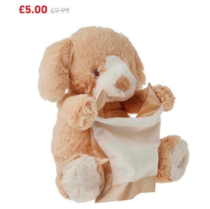 CHEAP! GUND Peek-a-Boo Puppy Animated Sound 25cm Plush Toy 1/2 Price £5