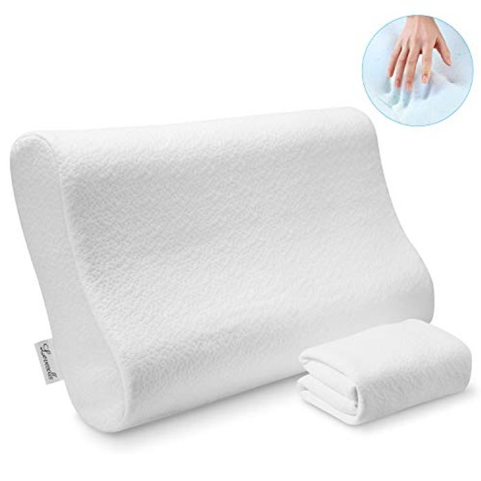 LEVESOLLS Adjustable Memory Foam Orthopedic Contour Pillows - Only £19.99!