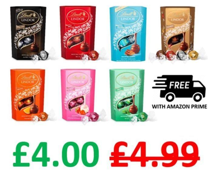 £1 OFF - Lindt Lindor Chocolate Truffles Box, 200g / 16 Balls