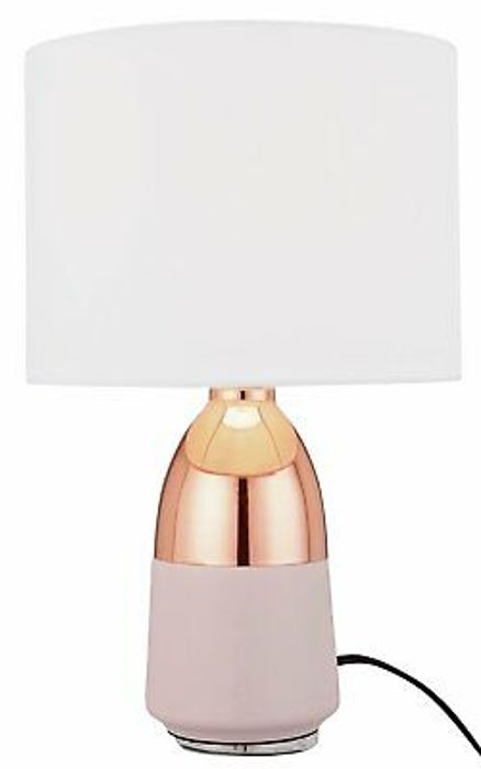 Argos Home Duno Touch Table Lamp - Copper & Pink