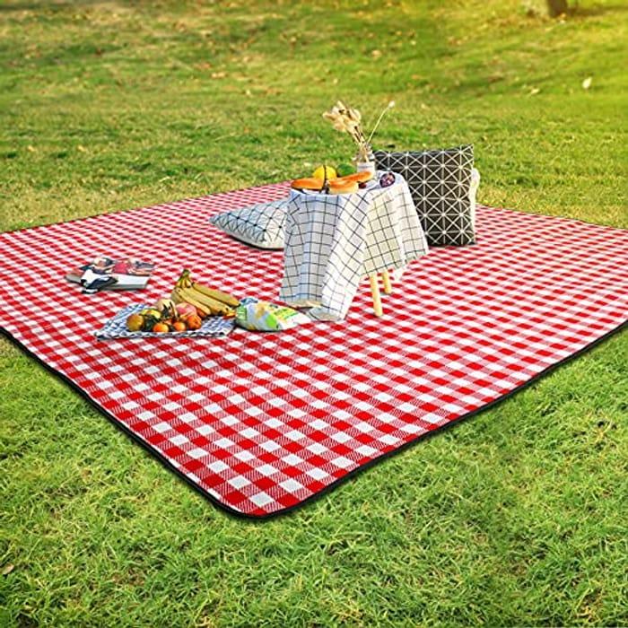 SKYSPER Large Picnic Blanket - 200x200cm