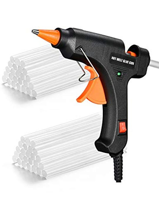 Cablor 20w Mini Hot Glue Gun with 50 Glue Sticks