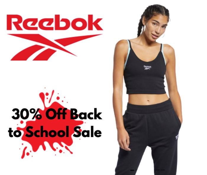 30% Off Reebok Back to School Sale + Extra 30% Off With Voucher Code