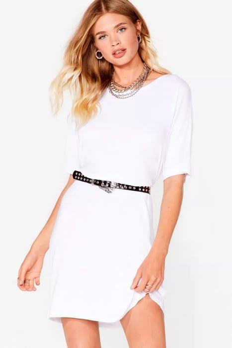 Loose Fit Midi T-Shirt Dress