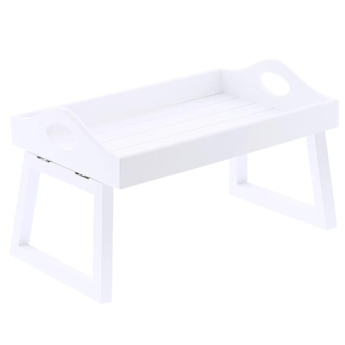 Wooden Sofa Tray: White