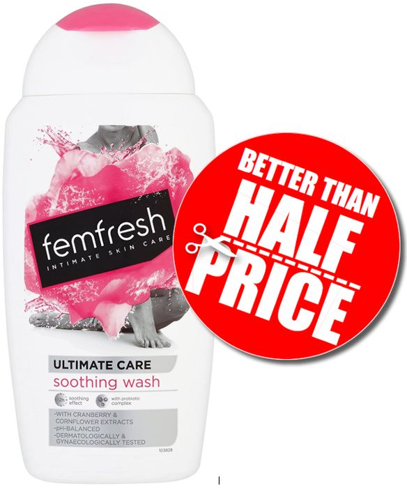 Femfresh Ultimate Care Soothing Wash 250ml (& More Off with S&S)
