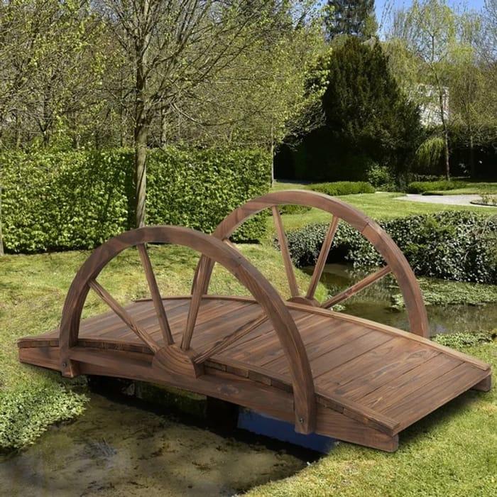 Outdoor Garden Dcor Walkway Bridge