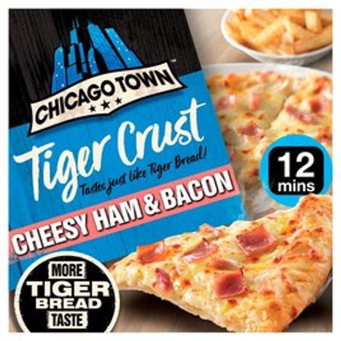 Chicago Town Tiger Crust Cheesy Ham & Bacon Pizza - Only £1.50!