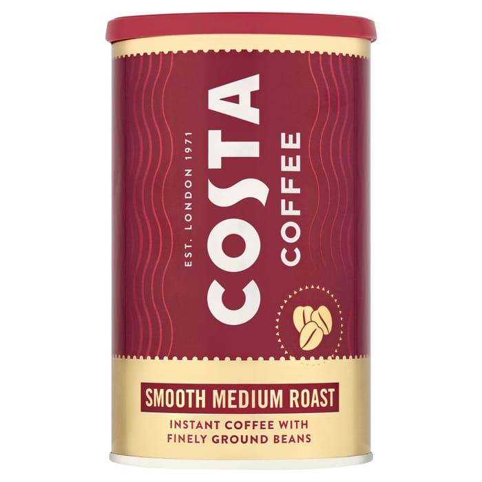 Costa Instant Coffee Smooth Medium Roast 100G (Clubcard)