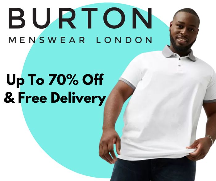 Burton Big & Tall Men's 70% Off Sale - Prices From £1.40 & Free Delivery