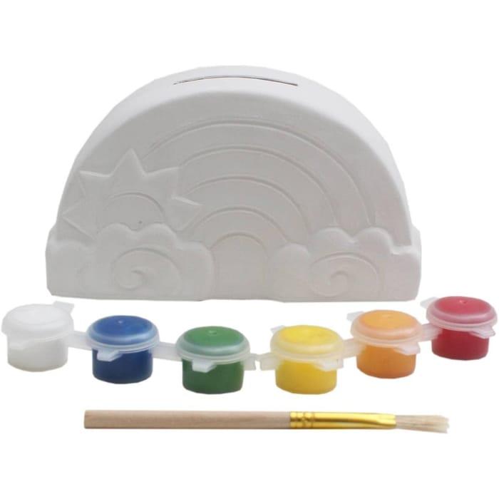 Paint Your Own Rainbow Money Box