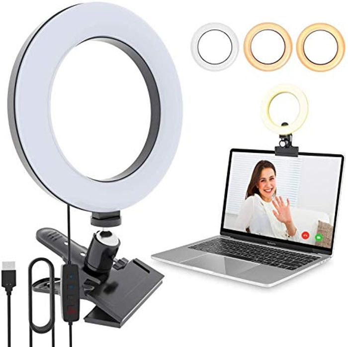LED Ring Light with Clamp Just £4.99