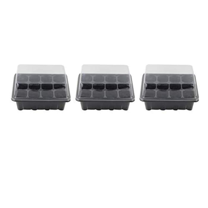 Yardwe 3PCS Seed Starter Trays 12 Cells