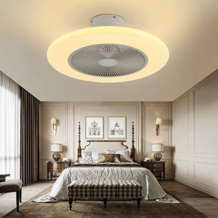 Modern Ceiling Fan with Light 72W 55cm Ceiling Lamp Low Noise