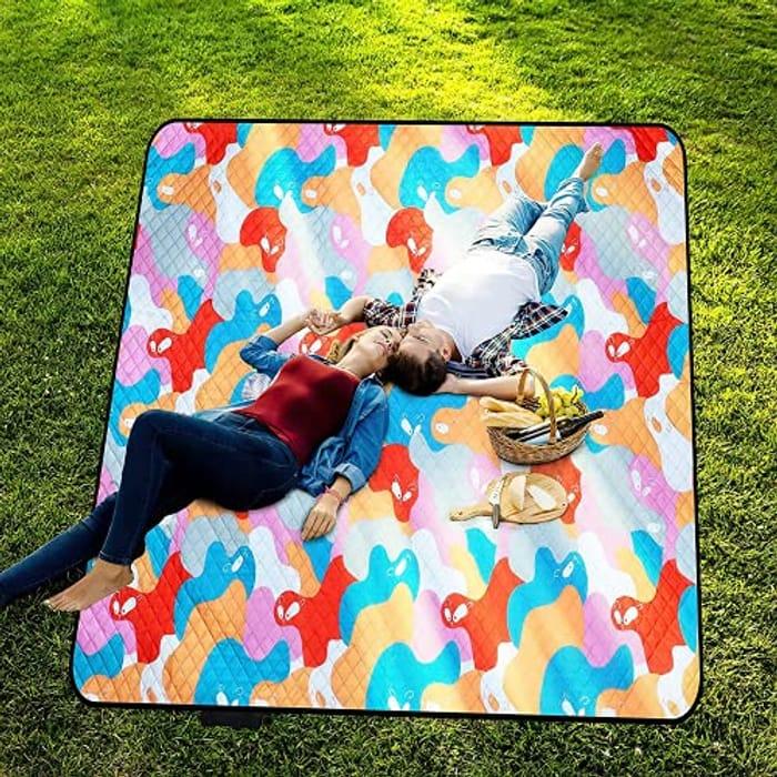 Large Waterproof Picnic Blanket Just £5.99