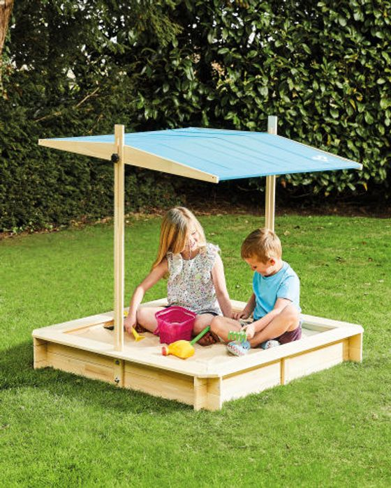 Cheap TP Wooden Sandpit with Canopy - Only £29.99!