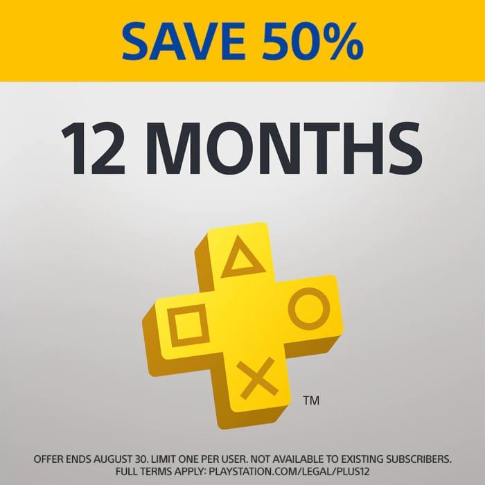 PlayStation Plus: 12 Month Membership - 50% Off