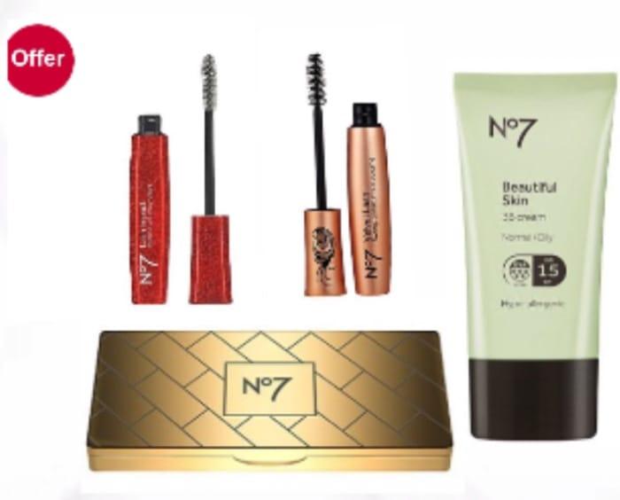 £5 No7 clearance,BB Cream,No7 Lash,mpact Mascara,Mini Palette Spend £20 save £10
