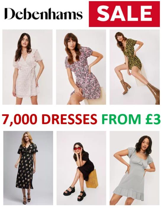 7,000+ Sale Dresses from £3 - DEBENHAMS SALE
