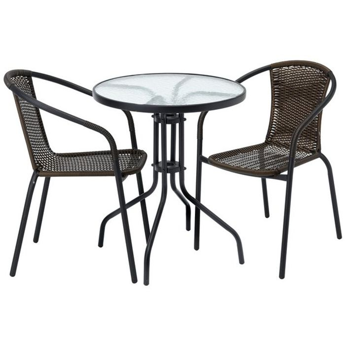 Argos Home 2 Seater Rattan Effect Balcony Set - Only £30!