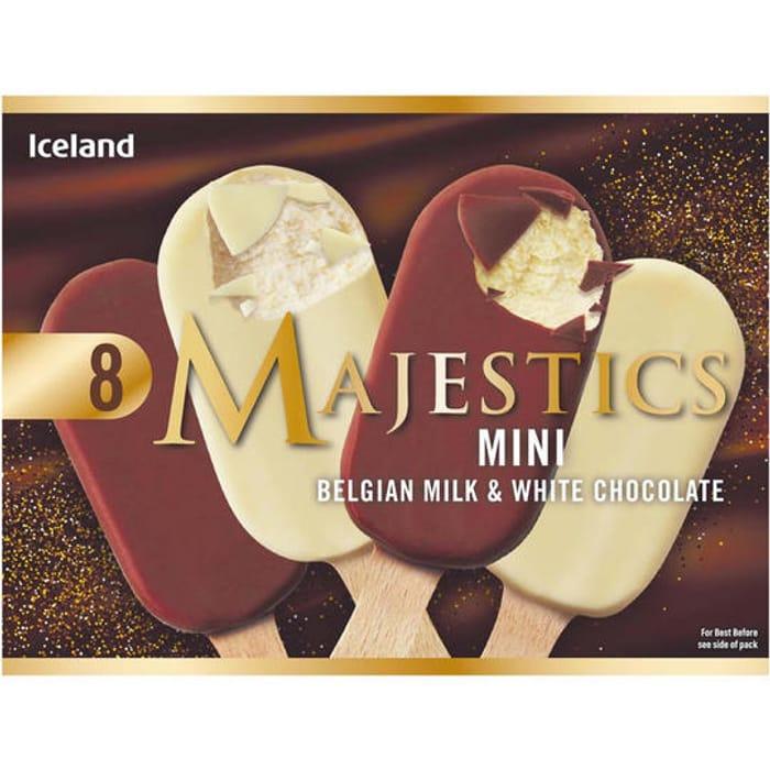 8 Mini Belgian Milk and White Chocolate Majestics 320g