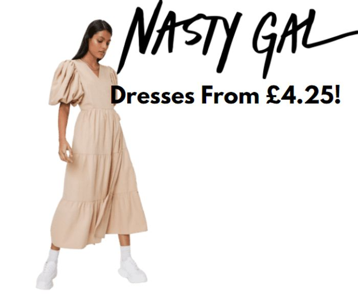 Nasty Gal Up To 80% Off + Extra 15% Code - LOADS Of £4.25 Dresses!