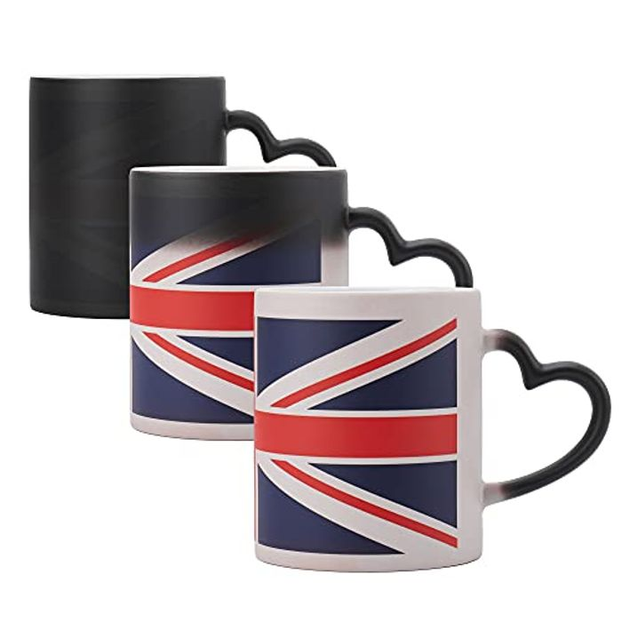 British Flag Ceramic Mark Cup, Heated Color with £13 off Coupon