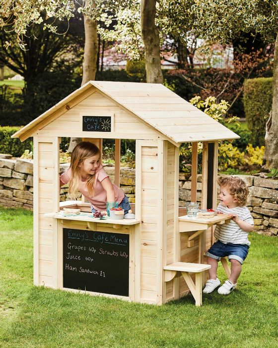 1/2 Price - Aldi Kids Outdoor Wooden Cafe Playhouse - £82.99 Delivered With Code