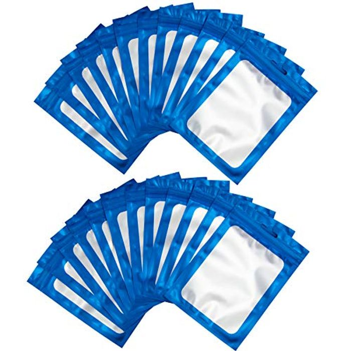 BQTQ 150pcs Resealable Foil Ziplock Bags - 10x15cm