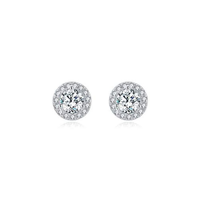 Silver Stud Earrings for Women Girls with £3 off Coupon