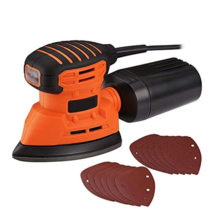 12000 RPM 130W Detail Sanders with Dust Collection System - Only £14.99!