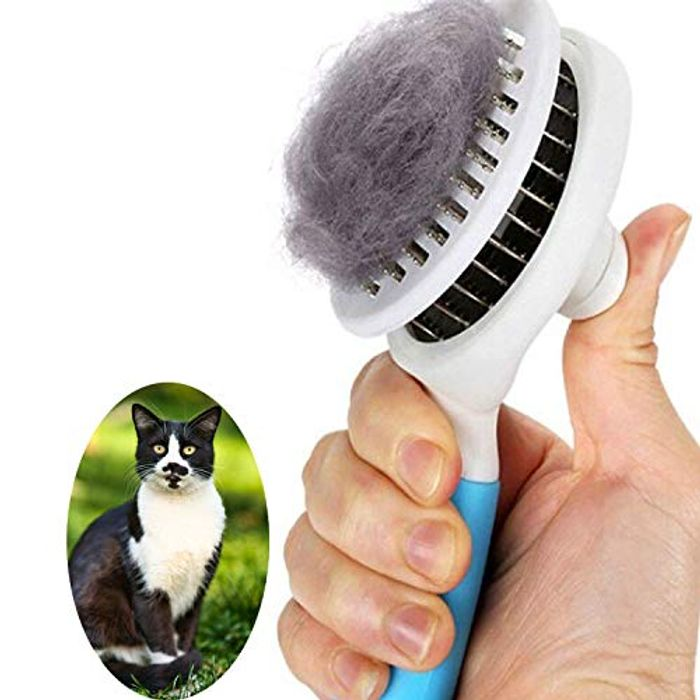 CHEAP! Self Cleaning Slicker Brushes for Shedding and Grooming - Only £6.99!
