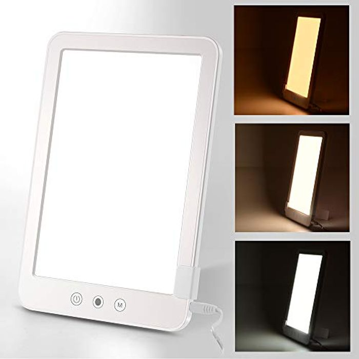 Light Therapy Lamp 10000 Lux Full Spectrum SAD Light Box - Only £7.99!