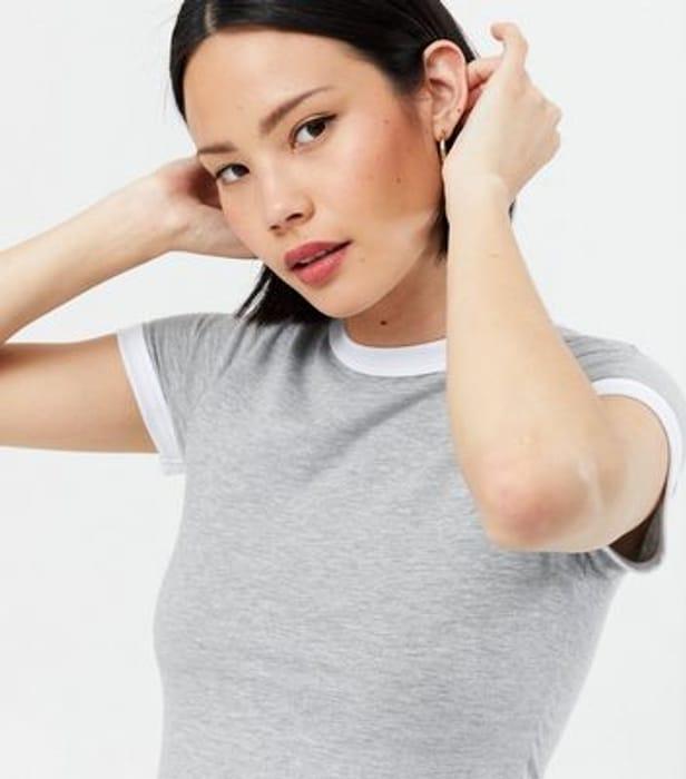 Pale Grey Ringer T-Shirt