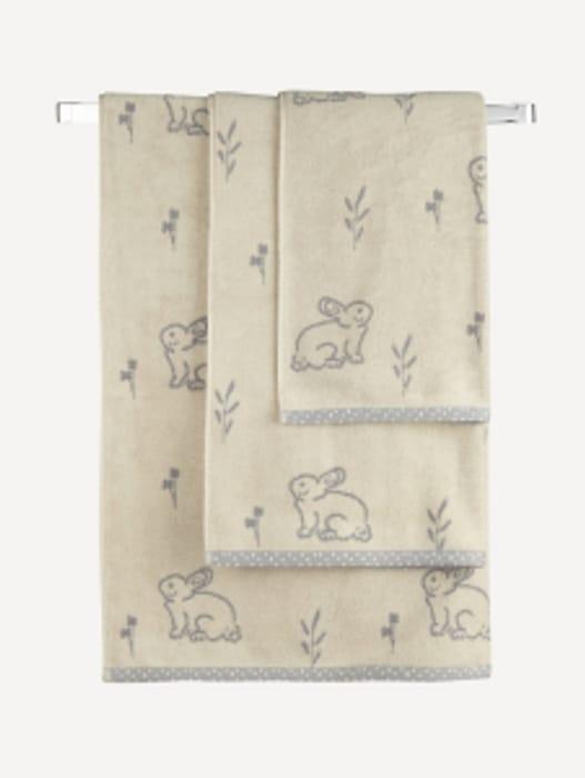 Natural Bunny Towel Range