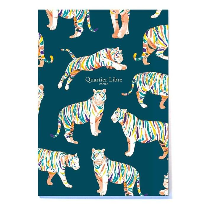 Quartier Libre Papier A5 Notebook - Rainbow Tigers