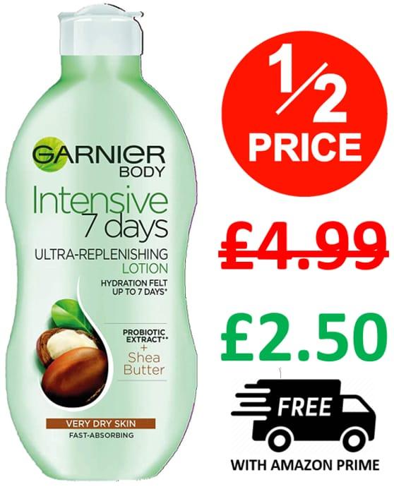 Garnier Intensive 7 Days Shea Butter Body Lotion For Dry Skin, 400ml