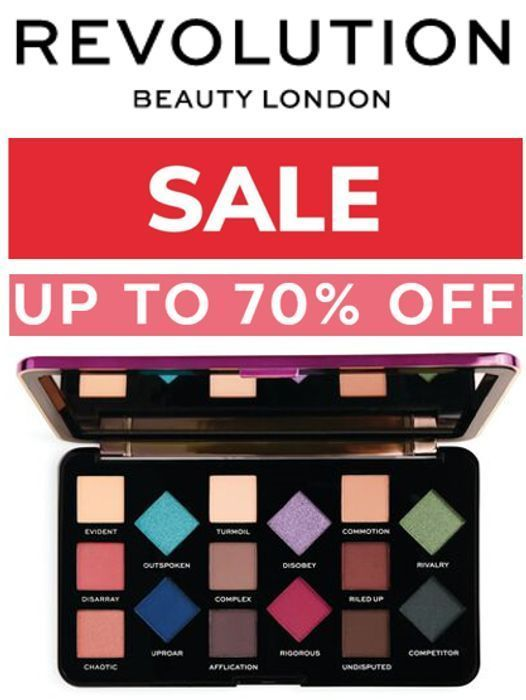 REVOLUTION BEAUTY SALE - up to 70% OFF SALE