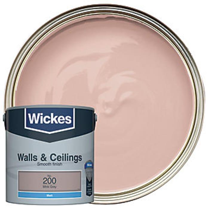 Wickes Mink Grey - No.200 Vinyl Matt Emulsion Paint - 2.5L