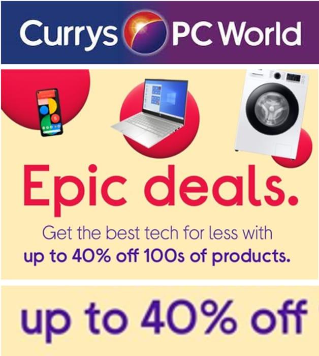 Special Offer! Currys Epic Deals - SALE TV's, Computing & Appliances!