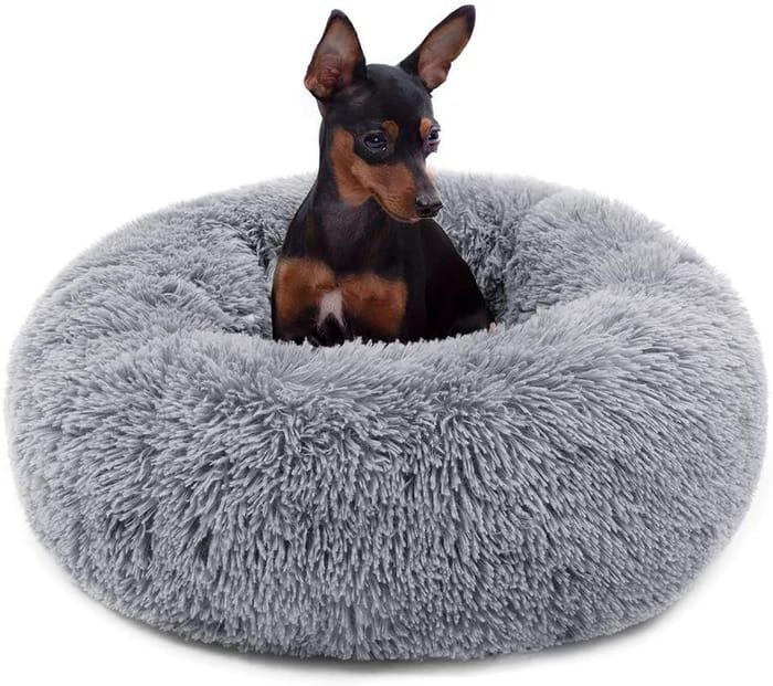 Plush Donut Pet Bed, Round Warm Cuddler (HALF PRICE)