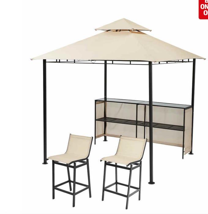 Gardenline Gazebo, Bar + 2 Bar Chairs £134.94 Delivered at Aldi