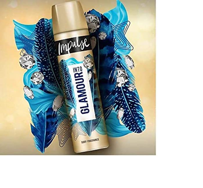 Impulse into Glamour Sandalwood & Vanilla Body Spray, 75ml
