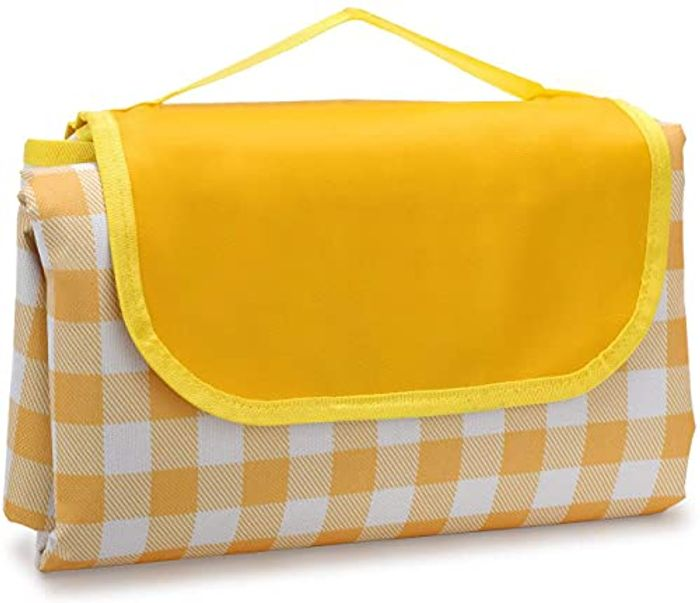 LOYUDEQIU Picnic Blanket with Waterproof Backing and Handle - 100x150cm