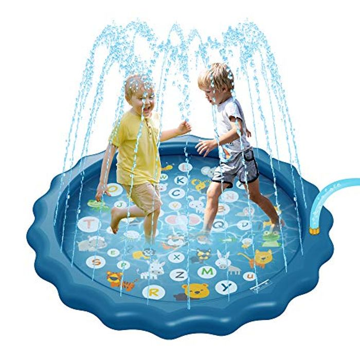 MOMSIV Sprinkle and Splash Water Play Mat
