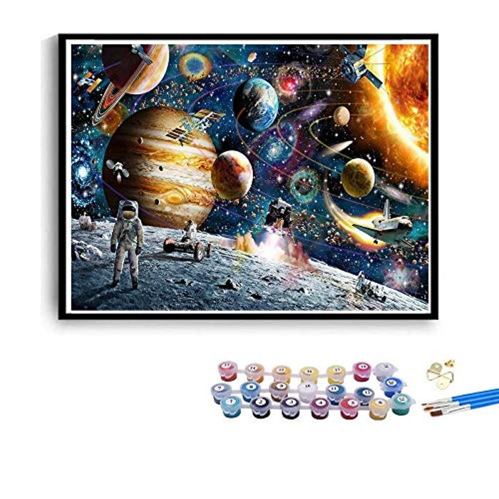 Paint by Numbers, DIY Canvas Oil Painting Kit for Kids Adult Beginners